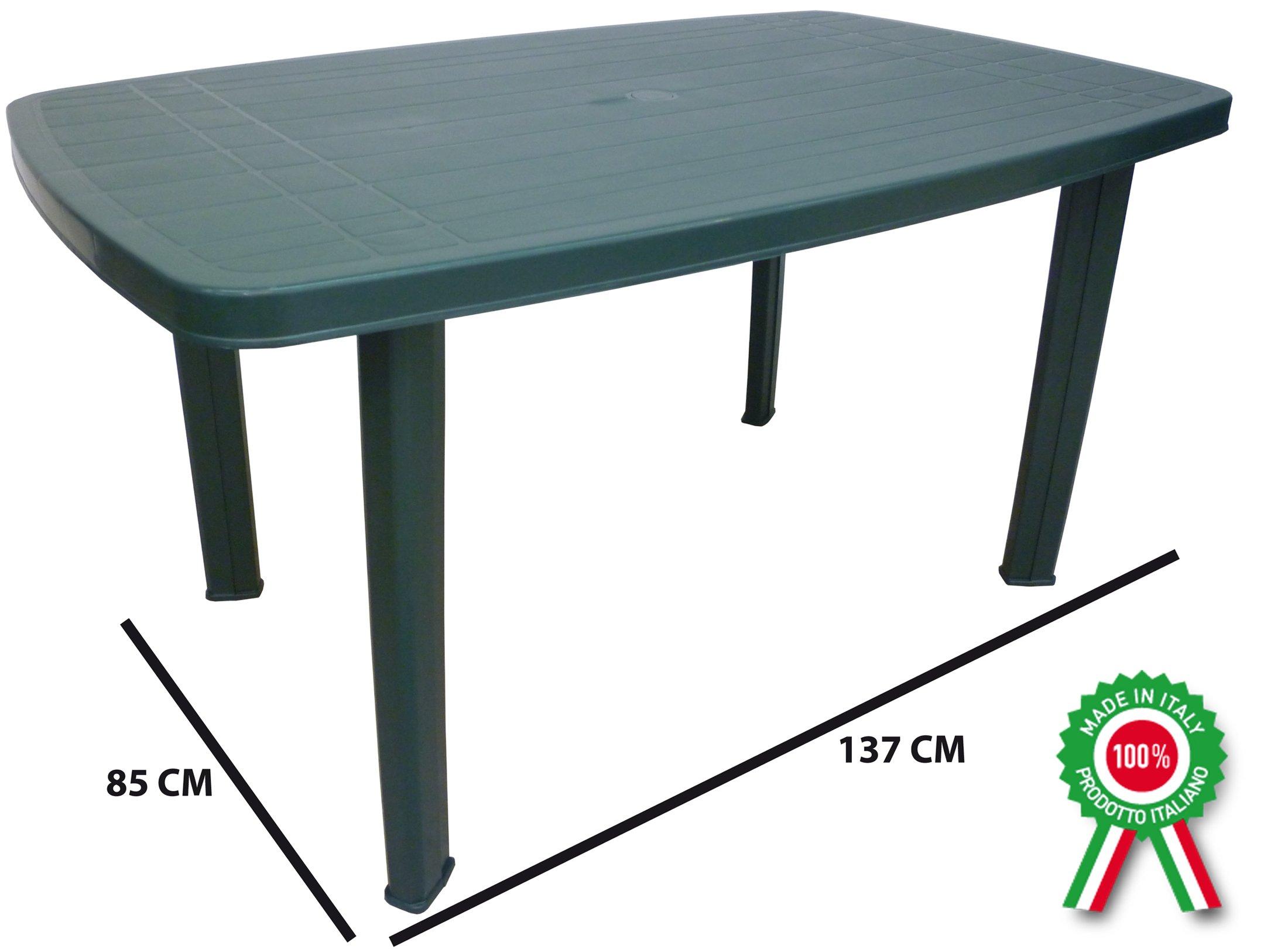 Mesa rectangular Mesa auxiliar de resina de Foco exterior de plástico verde: Amazon.es: Jardín