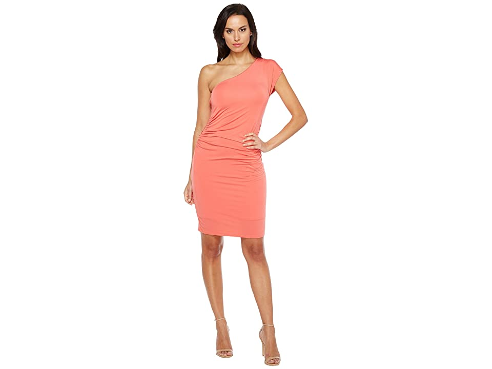 HEATHER One Shoulder Dress (Melon) Women