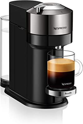 Breville BNV540DCR1BUC1 Vertuo Next Single-Serve Espresso Maker, Dark Chrome