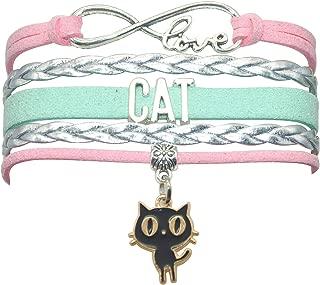 cat leather bracelet