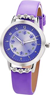 Kezzi 子供の腕時計、男の子と女の子、漫画の腕時計、瞳孔の時計 K1410 (パープル)