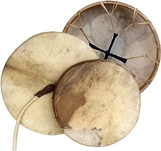Shaman drum round with goat skin, Frame Drum, handmade … (16