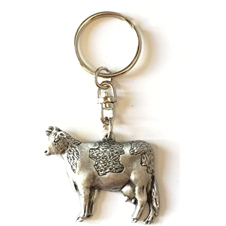 Beautiful Quality And Detail Charging Wild Boar Silver Pewter Keyring