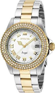 Invicta Women's Angel Quartz Watch with Stainless Steel Strap, Two Tone, 20 (Model: 20503)