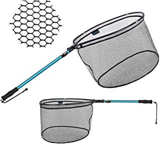 SAN LIKE Foldable Fishing Landing Net - Portable...