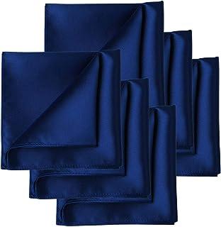 076f197833d1c KissTies 1PC/6PCS Satin Pocket Square Wedding Party Solid Handkerchief +  Gift Box