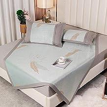 Summer Sleeping mat mat 600D ice Silk mat Thick Foldable Washable Jacquard Thick ice Silk mat Three-Piece Foldable Winter ...
