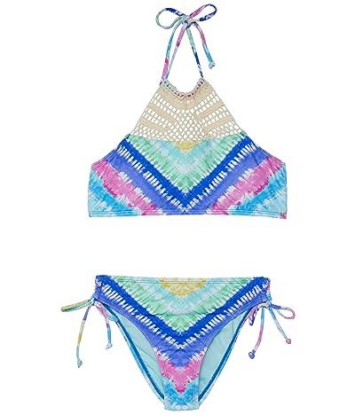 Hobie Kids Festival Tie-Dye Crochet High Neck and Adjustable Hipster (Big Kids)