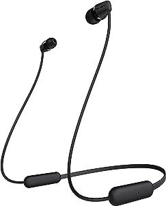 سماعات رأس لاسلكية من سوني WI-C200 - اسود