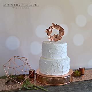 Hammered Copper Cake Stand ~ Copper Wedding Cake Stand ~ Metal Cake Stand ~ Rustic Wedding Cake Stand ~ Industrial Wedding Cake Stand