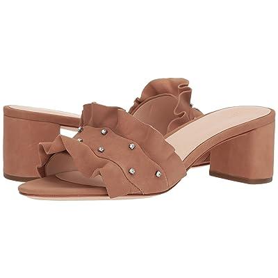 Loeffler Randall Vera Ruffle Sandal Mule (Buff Pink/Clear) Women