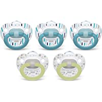5 Pack NUK Orthodontic Pacifiers 0-6 Months
