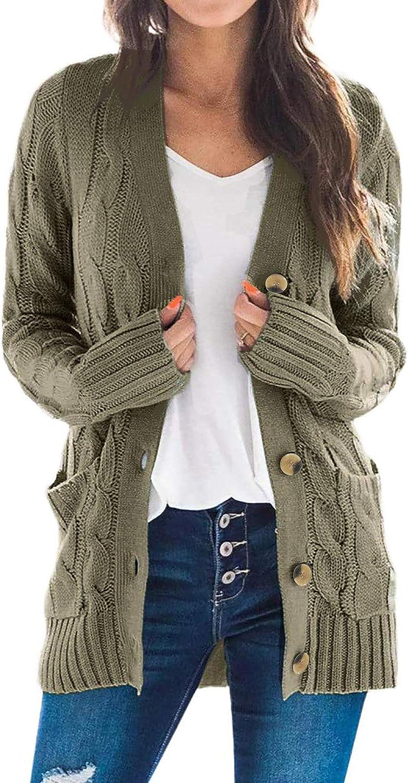 Acelitt Women's Dolman Long Sleeve Open Front Knitted Cardigan Sweater