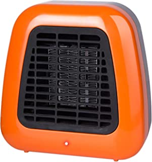 Minetom 400W Portable-Mini Ceramic Space Heater for Office Desktop Table Home, ETL Listed Personal Heater with Overheat Protection and Tip-Over Protection, Orange