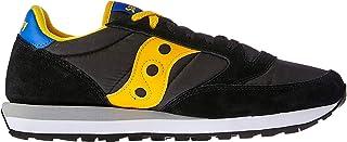 Saucony Jazz Original Men's Fashion Sneakers, Black/Yellow/Blue