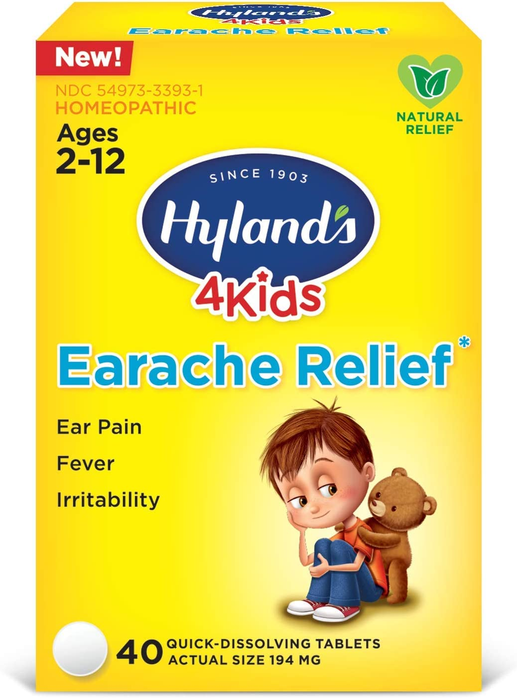 Swimmers Ear Relief Tablets for Kids Hyland's 2021new shipping free by Fast H Natural Sales for sale