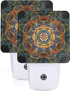 FybaGyabVA Sacred Geometry.jpg Plug-in Night Light,Warm White LED Nightlight,Dusk-to-Dawn Sensor for Bedroom, Bathroom, Kitchen, Hallway, Stair