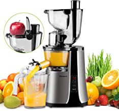 Wide Chute Slow Masticating Juicer Picberm Cold Press Juicer Extractor with Two Speed Modes, Juicer Machine for Higher Nutrient Fruit and Vegetable Juice, Quiet Motor & BPA-FREE
