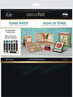 HeatnBond iCraft Deco Foil Toner 8.5'' x 11'' Sheets 3 Pack