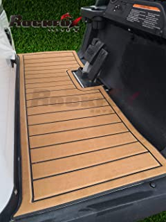 RockFox Outlet Golf Cart Floor Mat with EVA Environmentally Friendly Material. Luxury Floor Mat is A Great Choice to Dress Up Your Carts. (Club Car Precedent, Tan)