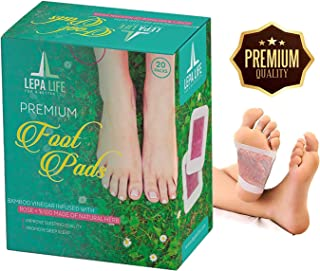 Premium Aromatherapy Rose Foot Pads - Stress, Pain Relief - Natural Better Sleep Aid - Energy Booster - Odor Eliminator, R...