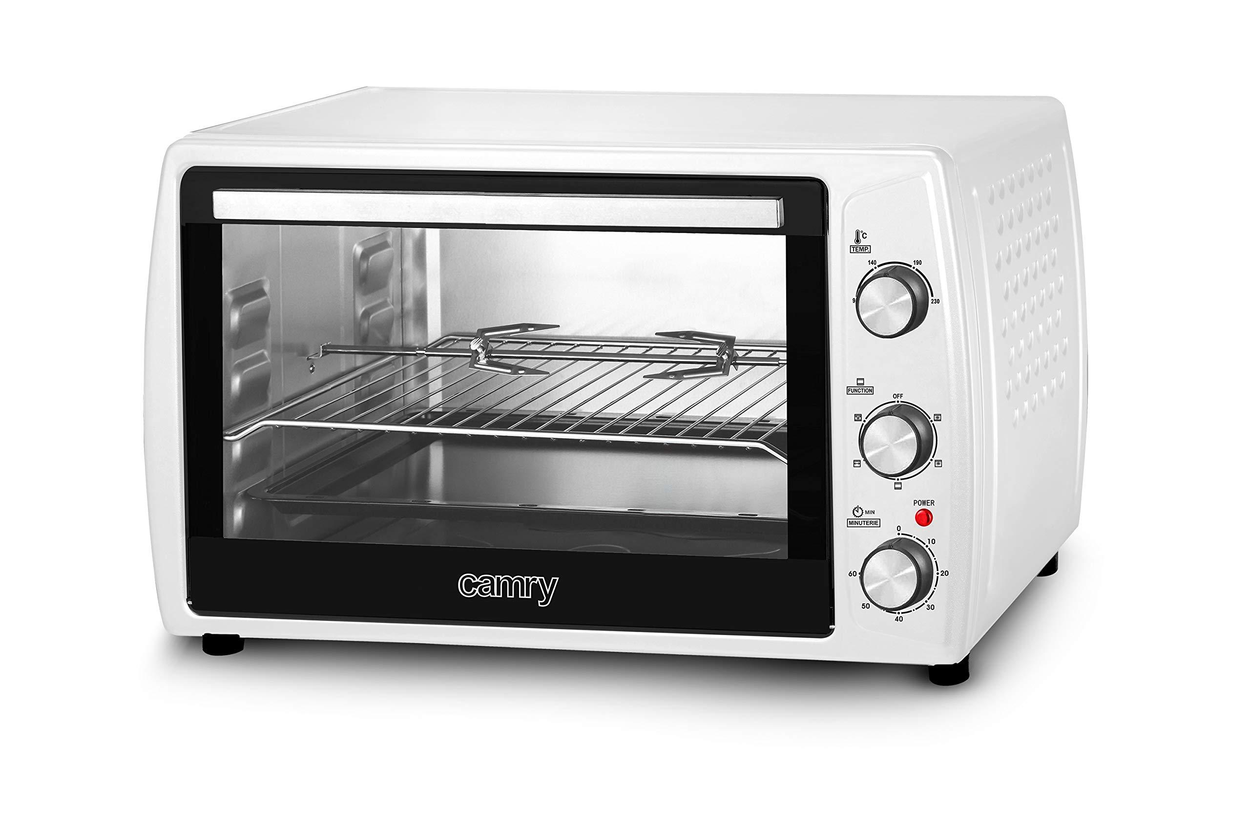 Camry CR6008 - Horno sobremesa, 2000 W, color blanco: Amazon.es ...