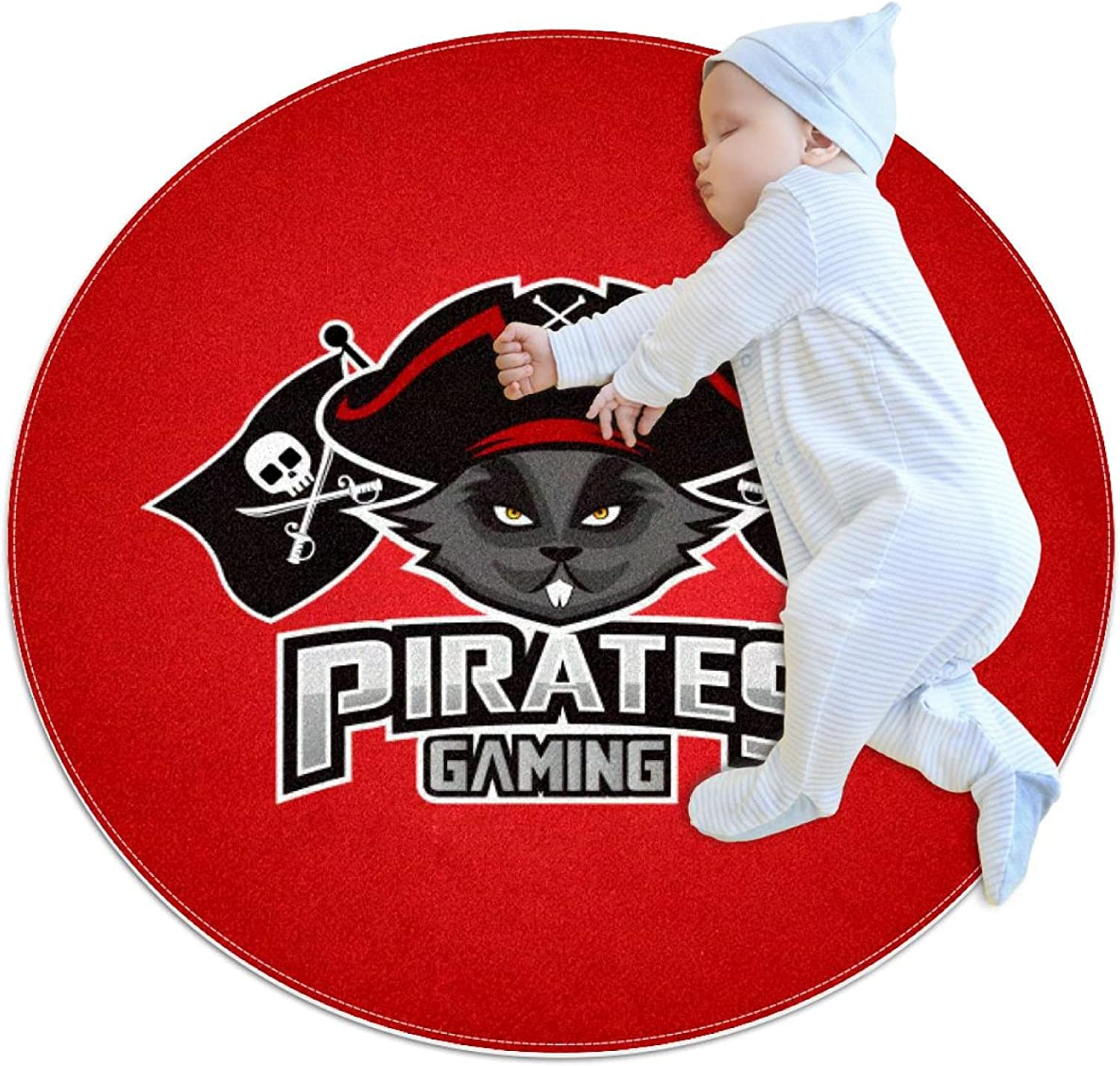 Pirates Mascot red Round Area R Children Pattern Rug Challenge the lowest price of Japan Albuquerque Mall ☆