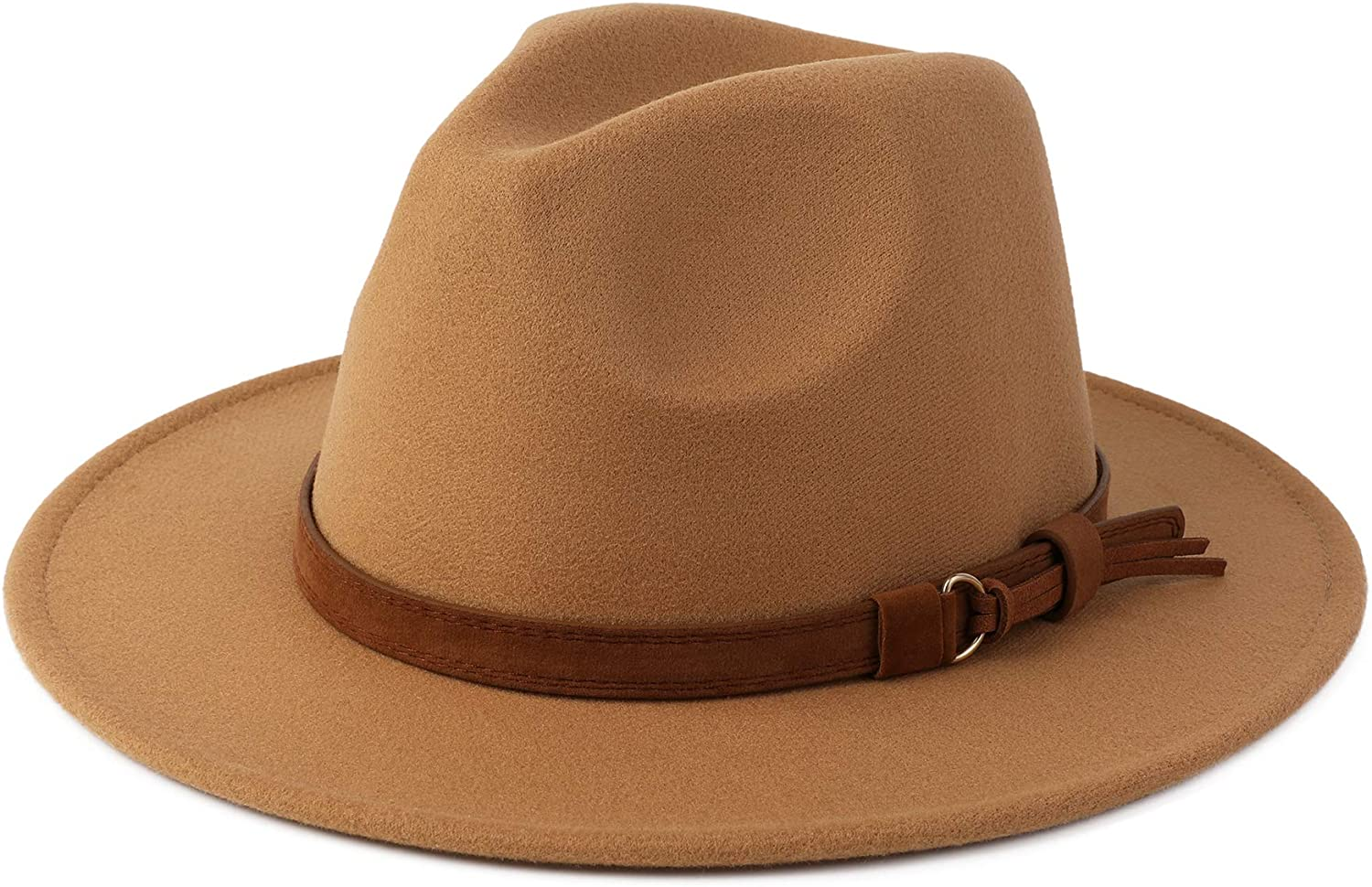Direct stock discount Besoogii Classic Wide Brim Women Men Buckle Animer and price revision with Fedora Belt Hat
