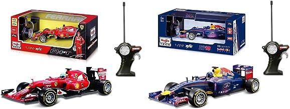Outletdelocio. Pack 2 Coches radiocontrol Formula 1 Ferrari F14T'14 Fernando Alonso y Red Bull RB10'14 Sebastian Vettel. Escala 1/24