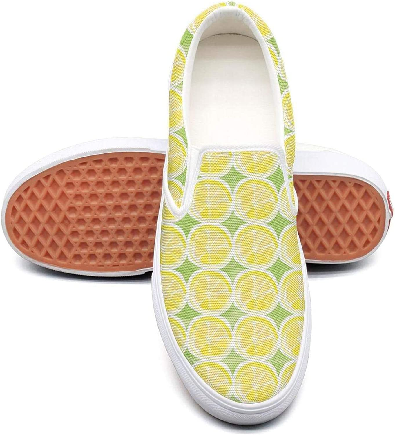 Lalige Lemon Creative Slice Women Fashion Canvas Slip-ONS Sneakers shoes