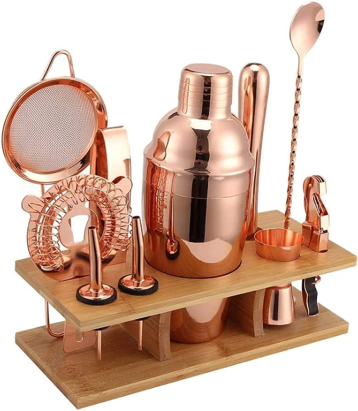 NFRMJMR 11-piece set of rose gold-plated stainless Free Shipping New steel cheap cocktai
