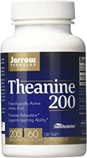 Jarrow Formulas Theanine 200, 200mg, 60 Capsules