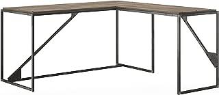Bush Furniture Refinery 62W L Shaped Industrial Desk with 37W Return in Rustic Gray