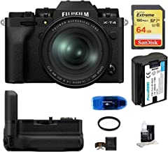 $2349 » Fujifilm X-T4 Mirrorless Digital Camera with XF 16-80mm f/4 R OIS WR Lens (Black) Bundle, Includes: SanDisk 64GB Extreme S...
