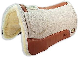 "Southwestern Equine OrthoRide Elite Saddle Pad Premium Tan Topper with Fleece Bottom 1"""