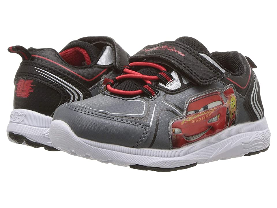Josmo Kids Cars Lighted Sneaker (Toddler/Little Kid) (Black/Grey) Boys Shoes