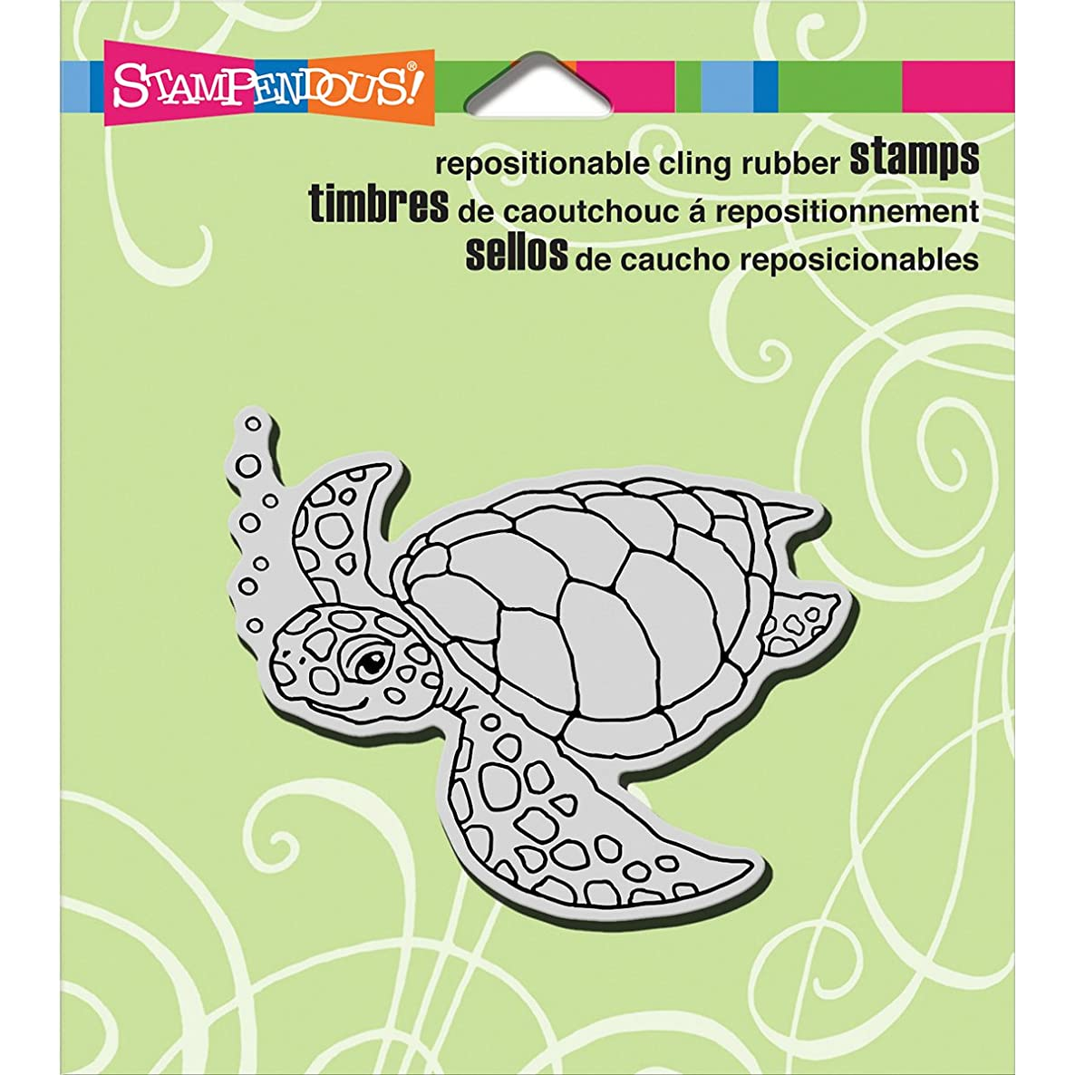 STAMPENDOUS Rubber Stamp, Cling Sea Turtle