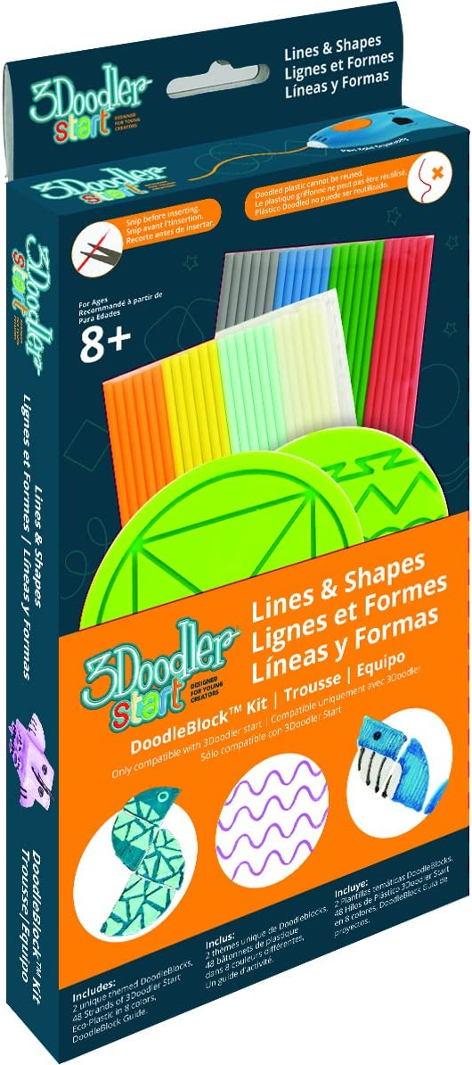 Mehrfarbig 3DOODLER 3DS-DBK-DN-COM 62146 Block Dinosaurs