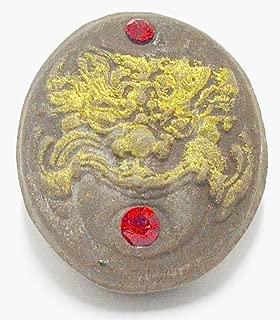Gambler Amulets Gambler Lotto Lucky Rahu Demon w/ Gems DAO Lp Pina Thai Buddha Amulet