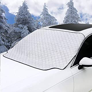 MITALOO Car Windshield Snow Cover, Ice Removal Sun Shade for Winter Protection, Universal Fit for Cars Trucks Vans and SUVs Thick and Large (72'' X39'')