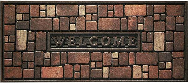Apache Mills Rock Wall 21 In X 48 In Recycled Rubber Door Mat