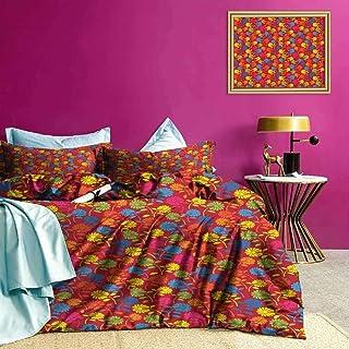 Adorise Funda nórdica Conjunto de Colores Blooming Margarita Moderna Ligera Colcha edredón Set iluminó la habitación - Queen Size