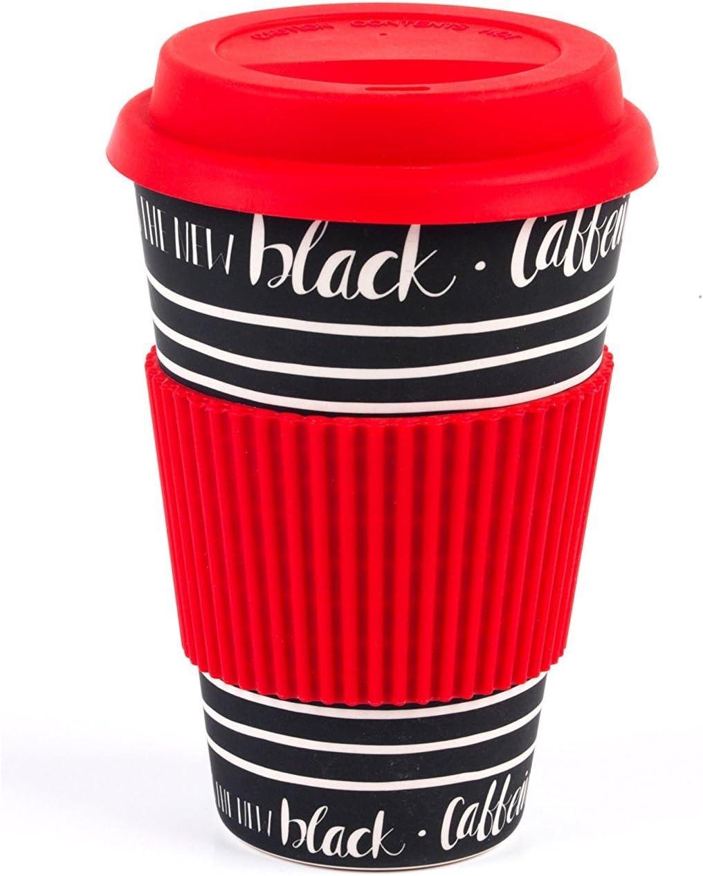 CAMBRIDGE CM05512 Bamboo Caffeine is The New Black Reusable Cup