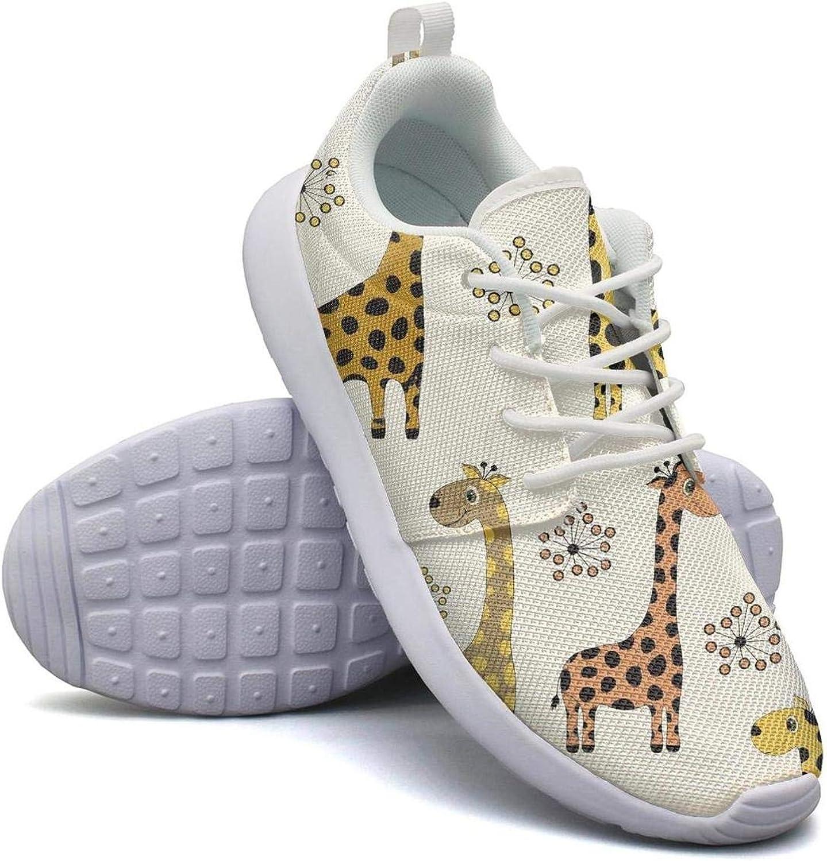 FEWW11 Women Cool Lightweight shoes Sneakers Giraffe Silhouette Breathable Sport Lace-Up