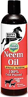 HARRIS Happy Horse Neem Oil, 100% Cold Pressed and Unrefined, Cosmetic Grade, 12oz