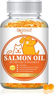 Spoonful Alaskan Salmon Oil for Dogs and Cats, Omega 3 Wild Alaskan Salmon Supplement Supports Joint Immune System Hair Sk...