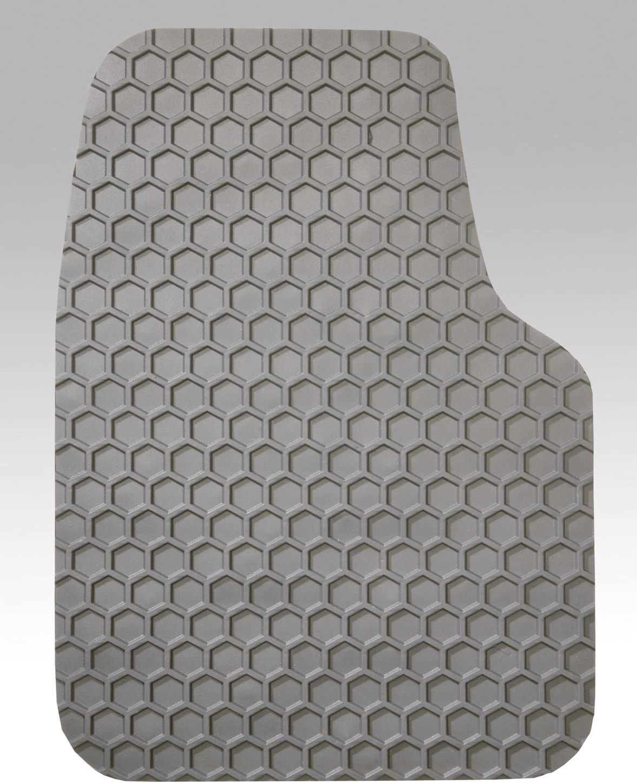 Rubber-Like Compound Custom Fit Auto Floor Mats for Select Chevrolet Corvette Models Black Intro-Tech CV-626-RT-B Hexomat Front Row 2 pc