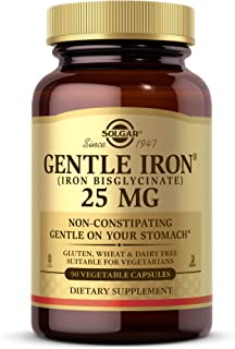 Solgar Gentle Iron 25mg, 90 Vegetable Capsules - Energy, Normal Red Blood Cell Production - Gentle on The Stomach - Non-GM...