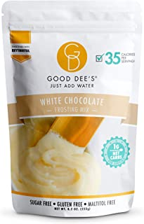 Good Dee's Just Add Water White Chocolate Frosting Mix - Low Carb Keto Frosting Mix (35 Calories, 1g Net Carb Per Serving)...