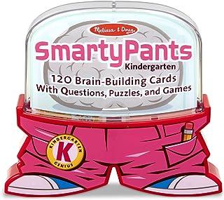 Melissa & Doug Smarty Pants Kindergarten Card Set - 120 Educational, Brain-Building Questions, Puzzles And Games